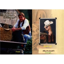 08167-Cowboy in birthday suit greeting card from Texas