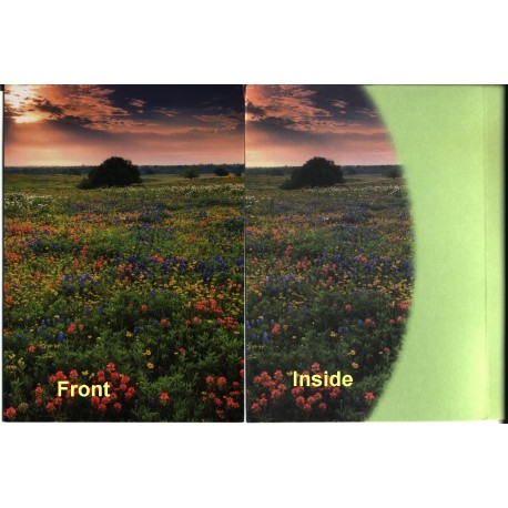 12180 - Morning Sunrise DeWitt County Texas greeting card