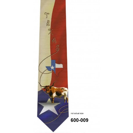 600-009-Texas State Star tie