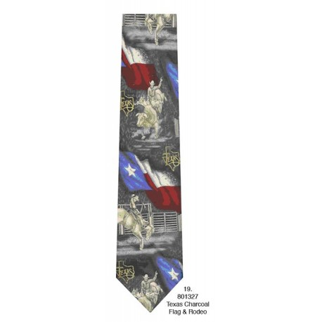 600-019-Tx Charcoal flag & rodeo