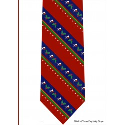 600-014-Texas Flag Holly stripe tie