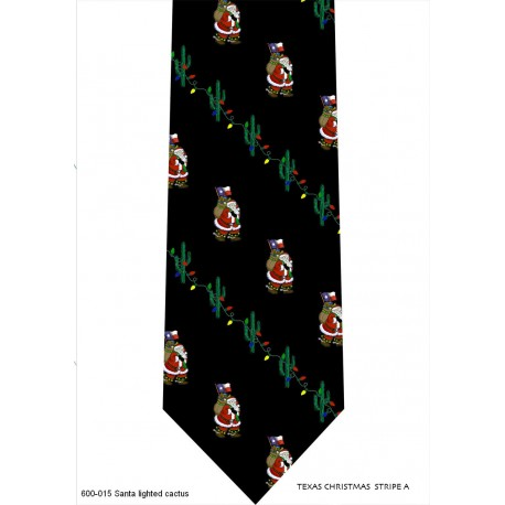 600-015-Santa lighted cactus tie