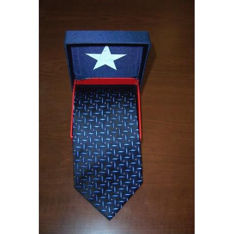 600-501 blue black square tie