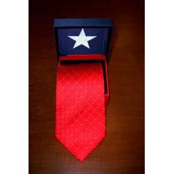 600-502 red square pinwheel tie